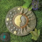 A GLOW IN DARK Day night sun star moon face celestial wall plaque garden home decorative collectible