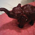 SMALL MAHOGANY COLOR POLYMER THAI ELEPHANT PAPER WEIGHT FIGURINE DECORATIVE COLLECTIBLE HOME