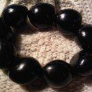hawaiian hazelnut bracelet black VINTAGE JEWELRY WOMEN'S FASHION CLOTHING ACCESSORY