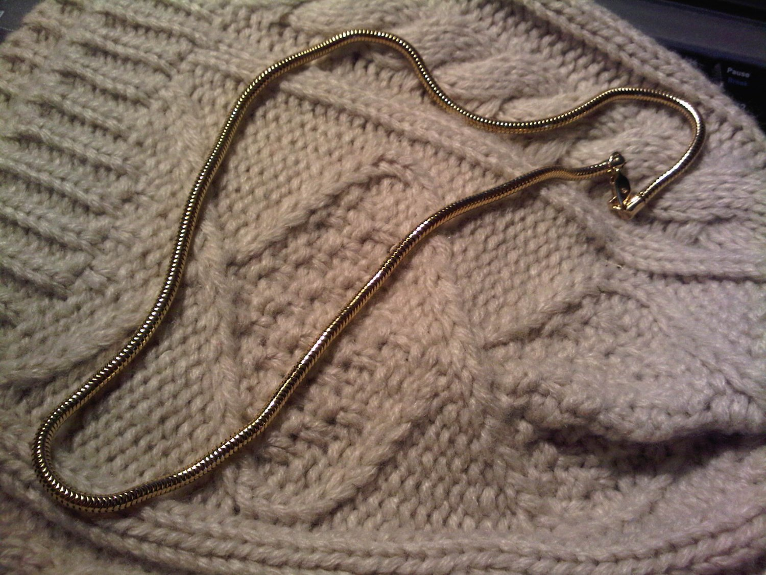 snake gold tone necklace VINTAGE JEWELRY WOMEN'S FASHION CLOTHING ACCESSORY