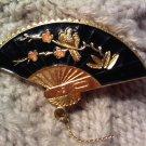 japan fan pin brooch VINTAGE JEWELRY WOMEN'S FASHION CLOTHING ACCESSORY