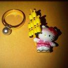 light japan HELLO KITTY CHARM decorative figurine collectible gift cartoon kids figure doll