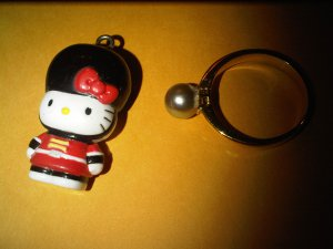 BRITISH GUARD HELLO KITTY CHARM decorative figurine collectible gift cartoon kids figure doll
