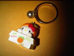 JAPAN ORANGE FARM HELLO KITTY CHARM decorative figurine collectible gift cartoon kids figure doll