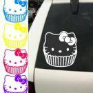 Hello Kitty Cupcake Cute Car Decal Sticker window house accessory gift fun family home decor
