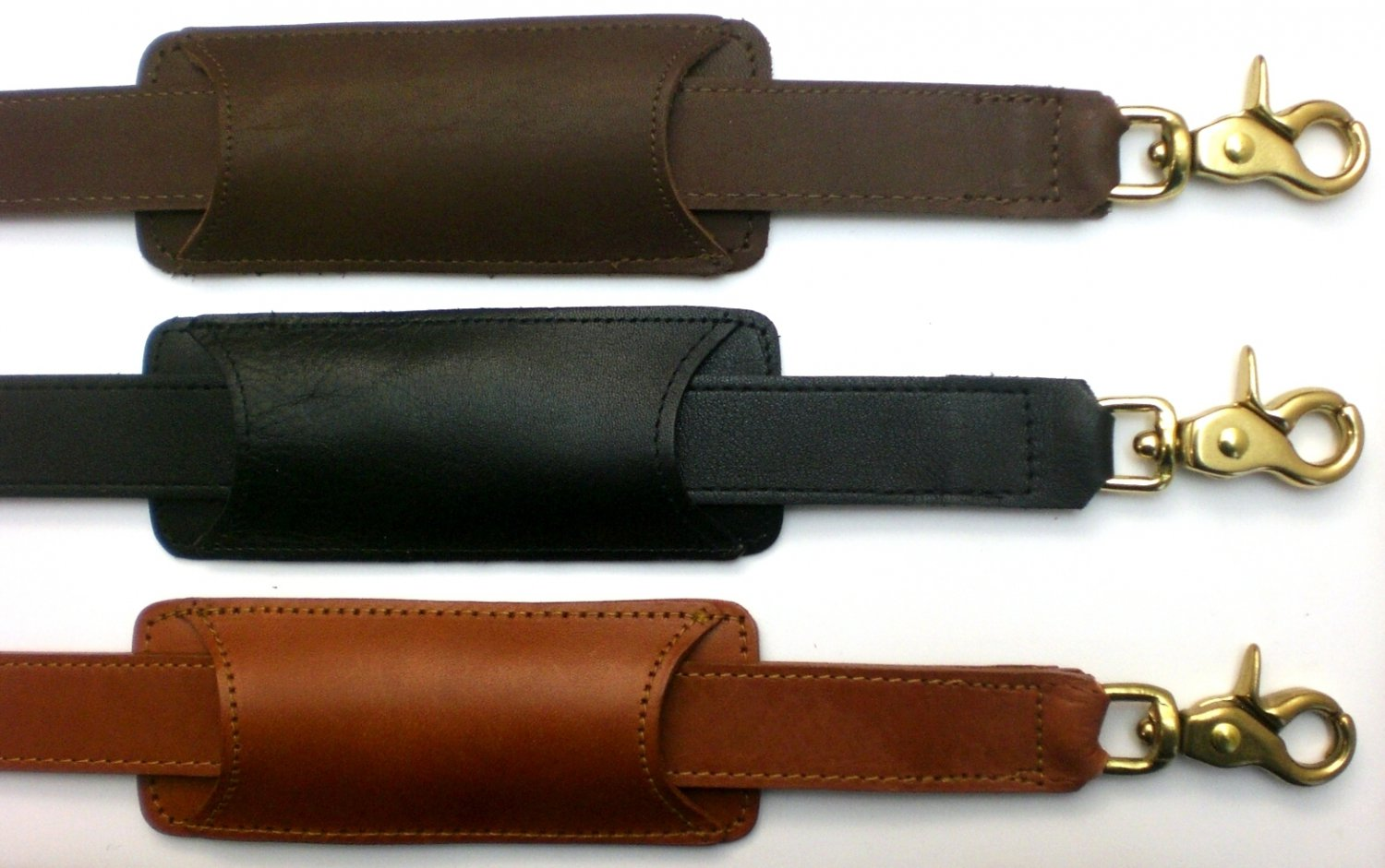 45 Quot X 1 Quot Replacement Leather Shoulder Strap Black Brown