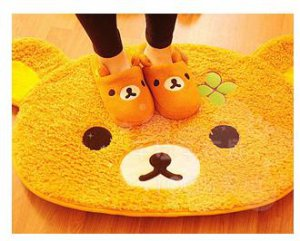 San-X Rilakkuma Relax Bear Mat Rug Carpet For Living Room Dining Room Bedroom