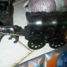 vintage BRONZE PENCIL SHARPENER HORSE CARRIAGE DECORATIVE COLLECTIBLE HOME