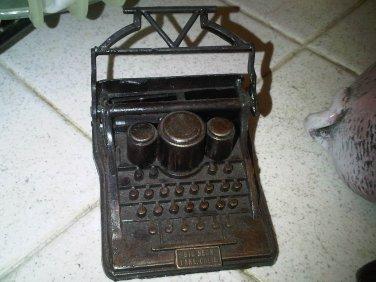 vintage BRONZE PENCIL SHARPENER OLD STYLE TYPEWRITER DECORATIVE COLLECTIBLE HOME