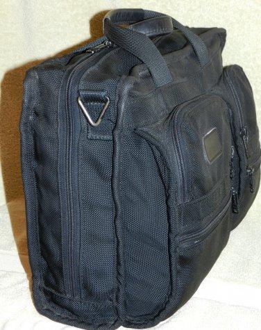 as-is Black TUMI Slim Ballistic Nylon Computer Case Briefcase Attache Vintage Classic bag accessory