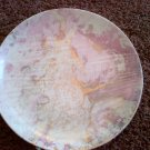 PINK GOLD color PLATE ART ARTIST DECORATIVE COLLECTIBLE HOME DECOR