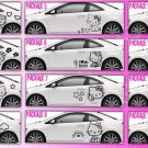 2 choice HELLO KITTY full body car decal sticker window house accessory gift fun family home decor