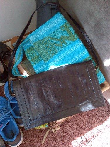 SNAKESKIN LEATHER BLACK PURSE HANDBAG BAG SHOULDER WOMEN'S ACCESSORY