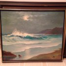 B Ocean beach wave art funk decorative collectible painting home decor