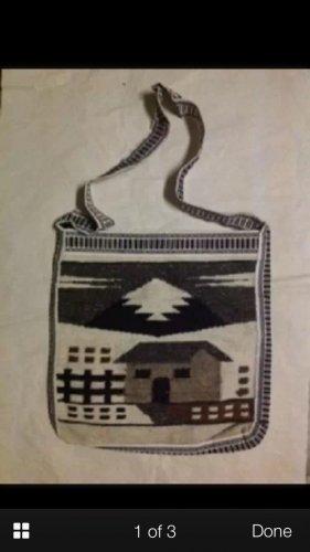 C Wool art bag Indian handbag women's accessory decorative collectible