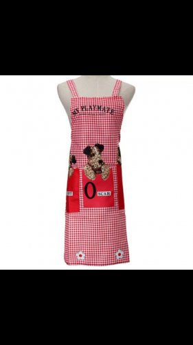 Sexy red dog apron cooking kitchen home fun costume clothing women's mens