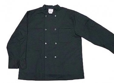 Male female unisex top chef coat black small s clothing accessory