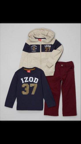 IZod kids 7 clothing large boys girls lot hoodie shirt pants red blue