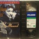 Spellbound VHS Alfred Hitchcock Ingrid Bergman, Peck