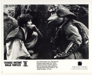 April O'Neil & Donatello Promo Press Photo - Ninja Turtles 3 - TMNT