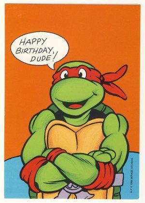 Raphael Birthday Greeting Card Ninja Turtles TMNT