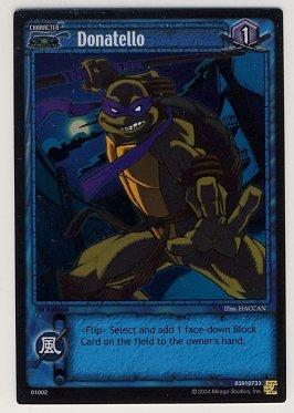 TMNT Trading Card Game - Foil Card #2 - Donatello - Ninja Turtles
