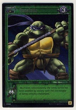 TMNT Trading Card Game - Foil Card #23 - Donatello - Ninja Turtles
