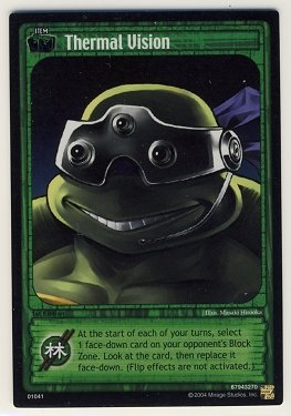 TMNT Trading Card Game - Foil Card #41 - Thermal Vision - Ninja Turtles