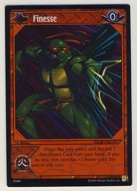 TMNT Trading Card Game - Foil Card #57 - Finesse - Ninja Turtles