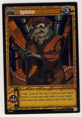 TMNT Trading Card Game - Foil Card #68 - Splinter - Ninja Turtles