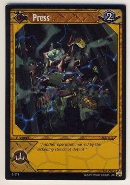 TMNT Trading Card Game - Foil Card #76 - Press - Ninja Turtles