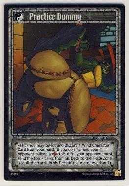 TMNT Trading Card Game - Foil Card #99 - Practice Dummy - Ninja Turtles