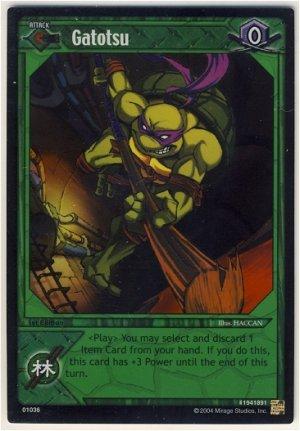 TMNT Trading Card Game - Foil Card #36 - Gatotsu - Ninja Turtles