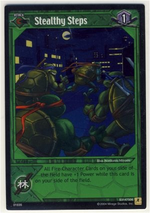 TMNT Trading Card Game - Foil Card #35 - Stealthy Steps - Ninja Turtles
