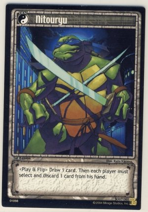 TMNT Trading Card Game - Uncommon Card #98 - Nitouryu - Ninja Turtles