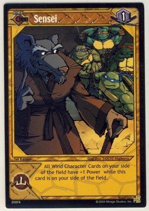 TMNT Trading Card Game - Uncommon Card #74 - Sensei - Ninja Turtles