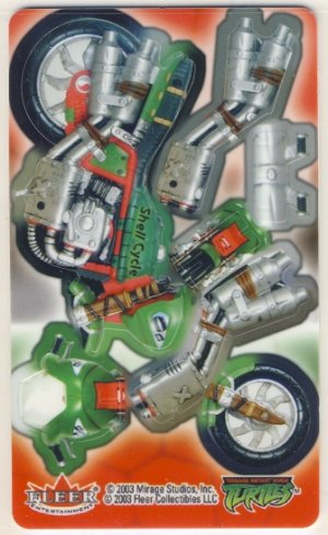 TMNT Trading Card - 3D Model Shell Cycle - Teenage Mutant Ninja Turtles - Fleer