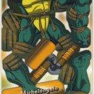 TMNT Trading Card - 3D Model Michelangelo (A) - Teenage Mutant Ninja Turtles - Fleer
