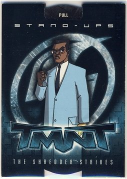 TMNT Fleer Series 2 Trading Card - Baxter Stockman Stand-Up - Shredder Strikes - Ninja Turtles