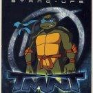 TMNT Fleer Series 2 Trading Card - Leonardo Stand-Up - Shredder Strikes - Ninja Turtles