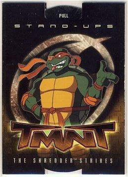 TMNT Fleer Series 2 Trading Card - Michelangelo Stand-Up - Shredder Strikes - Ninja Turtles