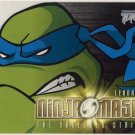 TMNT Fleer Series 2 Trading Card - Leonardo Ninja Mask - Shredder Strikes - Ninja Turtles