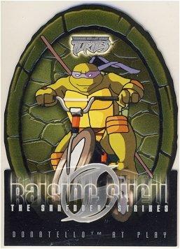TMNT Fleer Series 2 Trading Card - Raising Shell #02 Donatello - Shredder Strikes - Ninja Turtles