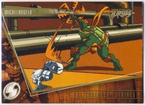 TMNT Fleer Series 2 Trading Card - Gold Parallel #10 - The Shredder Strikes - Ninja Turtles