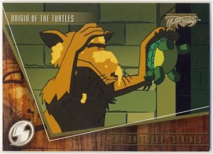TMNT Fleer Series 2 Trading Card - Gold Parallel #20 - The Shredder Strikes - Ninja Turtles
