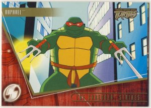 TMNT Fleer Series 2 Trading Card - Gold Parallel #27 - The Shredder Strikes - Ninja Turtles
