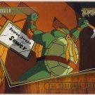 TMNT Fleer Series 2 Trading Card - Gold Parallel #28 - The Shredder Strikes - Ninja Turtles