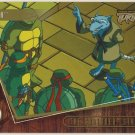 TMNT Fleer Series 2 Trading Card - Gold Parallel #31 - The Shredder Strikes - Ninja Turtles