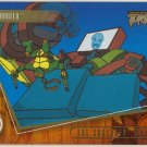 TMNT Fleer Series 2 Trading Card - Gold Parallel #35 - The Shredder Strikes - Ninja Turtles