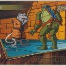TMNT Fleer Series 2 Trading Card - Gold Parallel #77 - The Shredder Strikes - Ninja Turtles